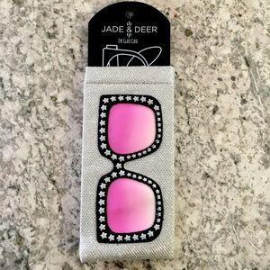 Jade & Deer Eyeglass Case